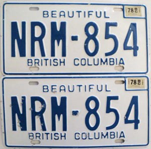 1978 British Columbia pair # NRM-854