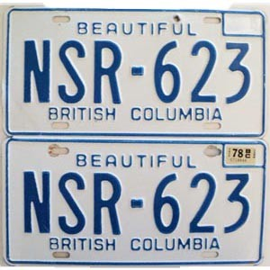 1978 British Columbia pair # NSR-623