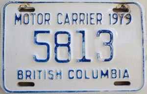 1979 British Columbia Motor Carrier # 5813