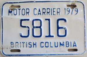 1979 British Columbia Motor Carrier # 5816