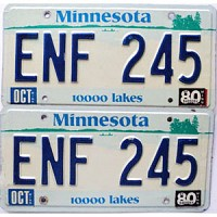 1980 Minnesota Lakes graphic pair # ENF-245