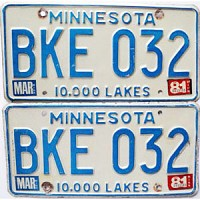 1981 Minnesota pair # BKE-032
