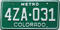 1982 Colorado Metro # 4ZA-031, Custer County