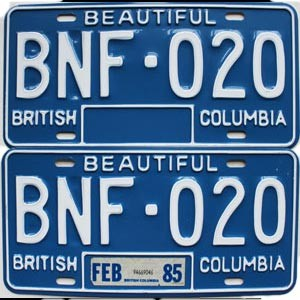 1985 British Columbia pair # BNF-020