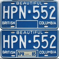 1985 British Columbia pair # HPN-552