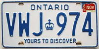 1985 Ontario Yours To Discover # VWJ-974