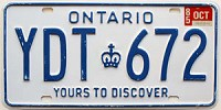 1985 Ontario Yours To Discover # YDT-672