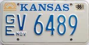 1986 Kansas graphic # V 6489, Geary County