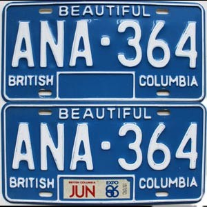 1986 British Columbia pair # ANA-364