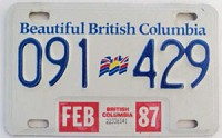 1987 British Columbia Trailer # 091-429