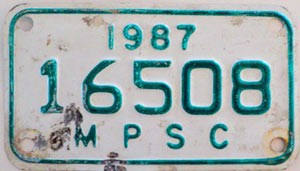 1987 Michigan Public Service Commission # 16508