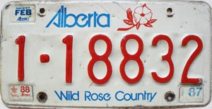 1988 Alberta Wild Rose Country Apportioned # 1-18832