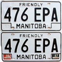 1988 Manitoba friendly pair # 476-EPA