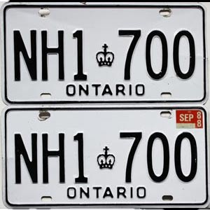 1988 Ontario Commercial pair # HN1-700