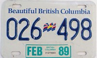 1989 British Columbia Trailer # 026-498