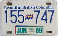 1989 British Columbia Trailer # 155-747