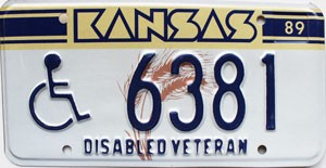 1989 Kansas Disabled Veteran # 6381