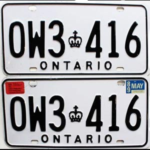 1989 Ontario Commercial pair # OW3-416