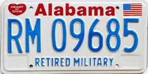 1991 Alabama Retired Military graphic # 9685