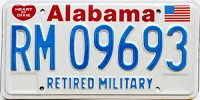 1991 Alabama Retired Military graphic # 9693