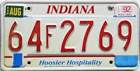 1992 Indiana Hospitality graphic # 64F2769