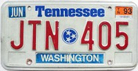 1993 Tennessee graphic # JTN-405