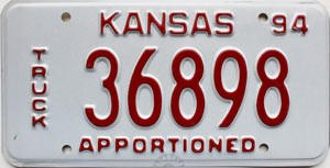 1994 Kansas Apportioned Truck # 36898