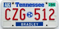 1994 Tennessee graphic # CZG-512