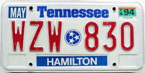 1994 Tennessee graphic # WZW-830