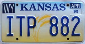 1995 Kansas Wheat graphic # ITP-882, Wyandotte County