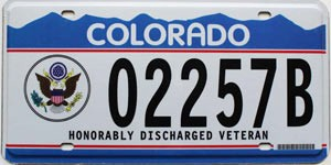 1996 Colorado Veteran graphic # 02257B