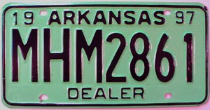 1997 Arkansas Dealer # MHM2861
