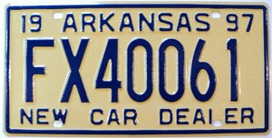 1997 Arkansas New Car Dealer # FX40061