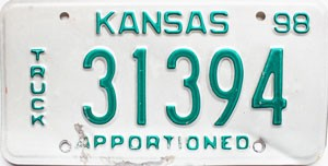 1998 Kansas Apportioned Truck # 31394