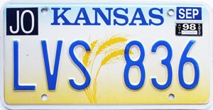 1998 Kansas Wheat graphic # LVS-836, Johnson County