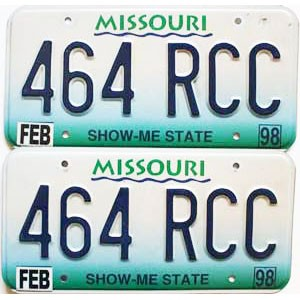 1998 Missouri graphic pair # 464-RCC