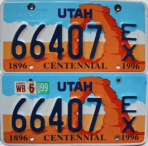 1999 Utah Centennial Exempt pair # 66407
