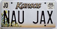 2000 Kansas Sunflower graphic # NAU JAX, Johnson County