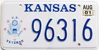 2001 Kansas Veteran graphic # 96316