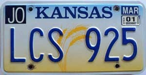 2001 Kansas Wheat graphic # LCS-925, Johnson County