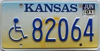 2001 Kansas Disabled graphic # 82064