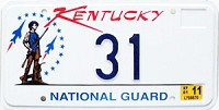 2001 Kentucky National Guard graphic low # 31