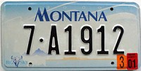 2001 Montana graphic # 7-A1912, Flathead County