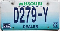 2002 Missouri Dealer # D279-Y