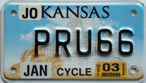 2003 Kansas Motorcycle graphic # PRU66, Johnson County