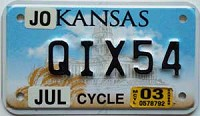 2003 Kansas Motorcycle graphic # QIX54, Johnson County