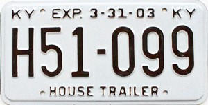2003 Kentucky House Trailer # H51-099