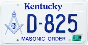 2003 Kentucky Masonic Order graphic # D-825