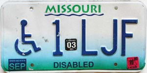 2003 Missouri Disabled graphic # 1-LJF