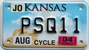 2004 Kansas Motorcycle graphic # PSQ11, Johnson County